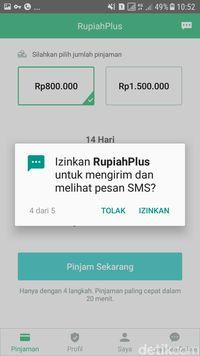 Aplikasi Meminta Izin 'Intip' SMS