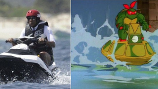 Meme Lucu Jay Z saat Main Jet Ski