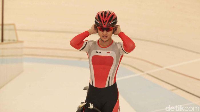 Crismonita Dwi Putri berlatih keras untuk tampil di Asian Games 2018.  (Pradita Utama/detikSport)