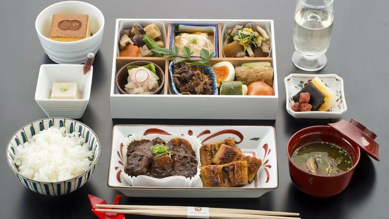 Menu Washoku Japan Airlines untuk penumpang kelas bisnis