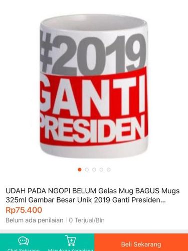 Produk Bertema #2019GantiPresiden Ramai Dijual di Online Shop