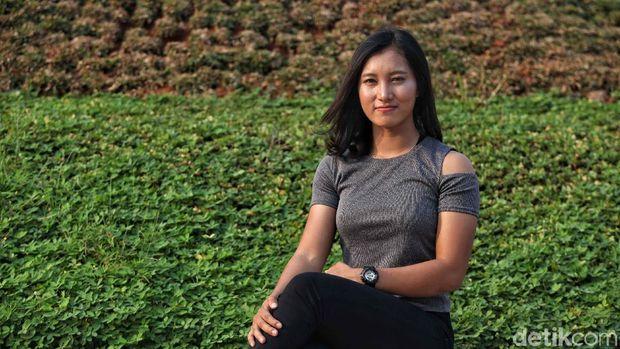 Crismonita Dwi Putri, pebalap nomor trek untuk Asian Games 2018