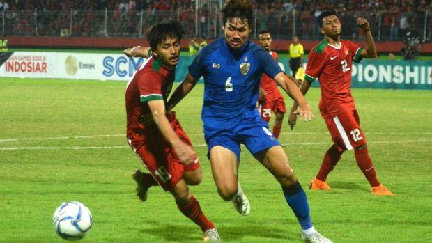 Timnas Indonesia U-19 kalah 1-2 dari Thailand U-19 pada laga terakhir Grup A Piala AFF U-19 2018. (
