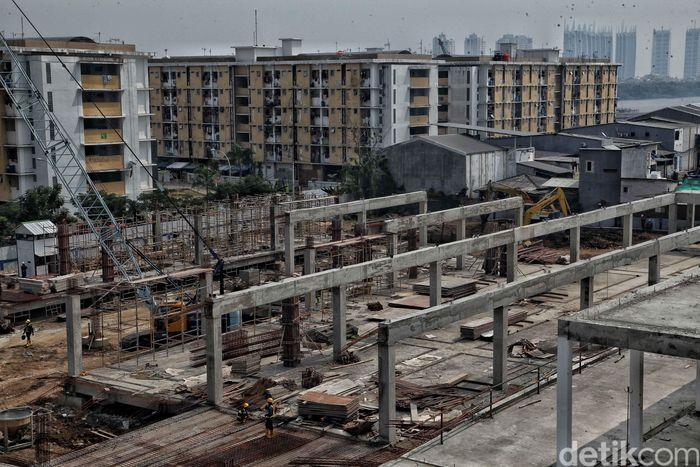 Begini penampakan terkini pembangunan Pasar Ikan Muara Baru Jakarta dengan konsep pasar ikan modern.