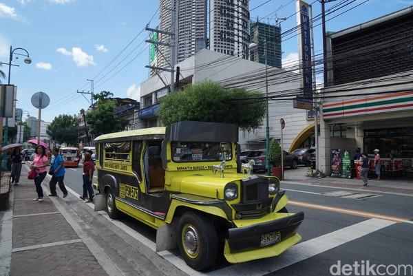 Serta ukuran Jeepney pun juga besar, panjangnya saja bisa mencapai 5 meter lho! (Syanti/detikTravel)