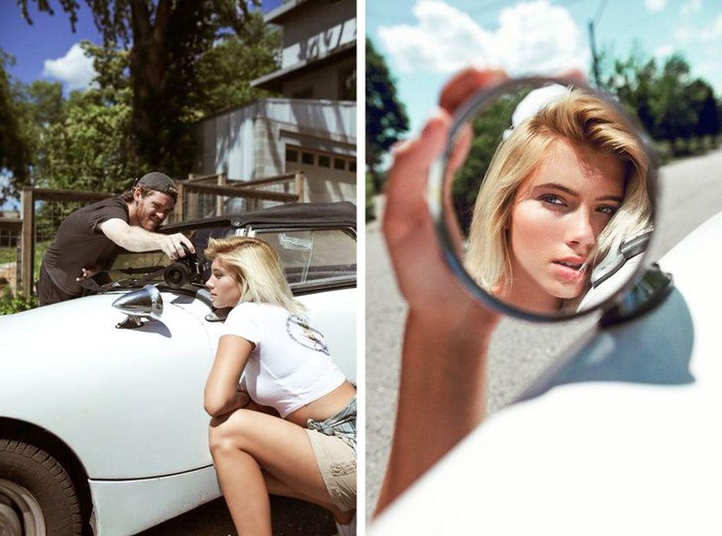 Dengankaca spionmobil ternyata bisa mendapat angle foto yang bagus. (Foto: Brightside)