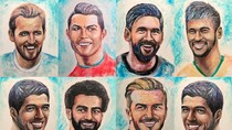 Wow! Para Bintang Lapangan Ini Dilukis dari Pasta Gigi