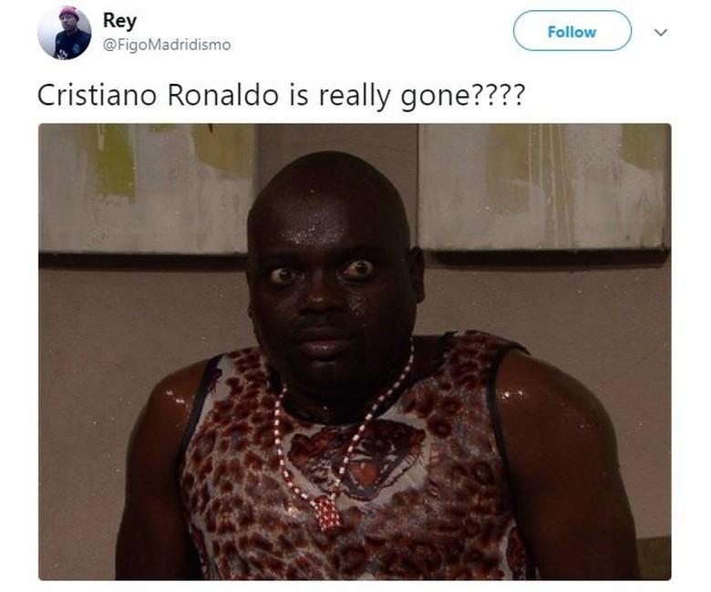 Mungkin begini reaksi kaget para peserta Liga Italia begitu tahu Ronaldo pindah ke Juve. Foto: Istimewa/Twitter