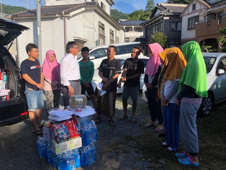 KJRI Osaka Beri Bantuan ke WNI Terdampak Banjir di Jepang