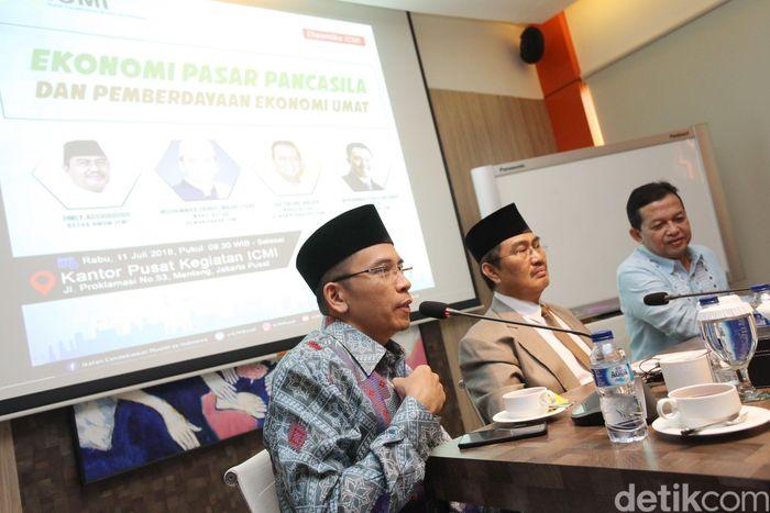 Ikatan Cendekiawan Muslim Indonesia (ICMI) menggelar diskusi di kantor pusat ICMI di Jalan Proklamasi, Jakarta Pusat, Rabu (11/7/2018).