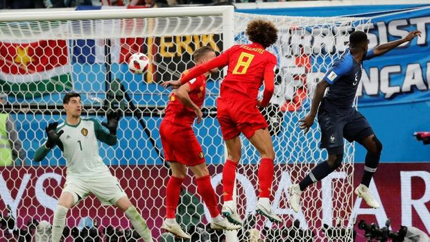 Gol tunggal Samuel Umtiti antar Prancis lolos ke final Piala Dunia 2018.