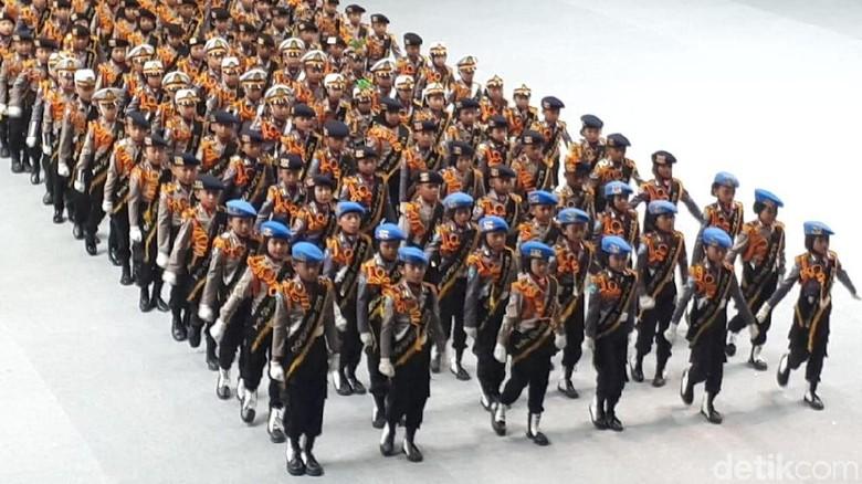 Gaya Kompak Polisi Cilik Meriahkan HUT ke-72 Bhayangkara