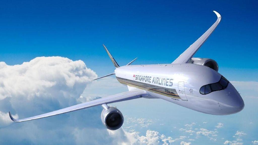 Pesawat Singapore Airlines yang Bakal Terbang Singapura-Los Angeles