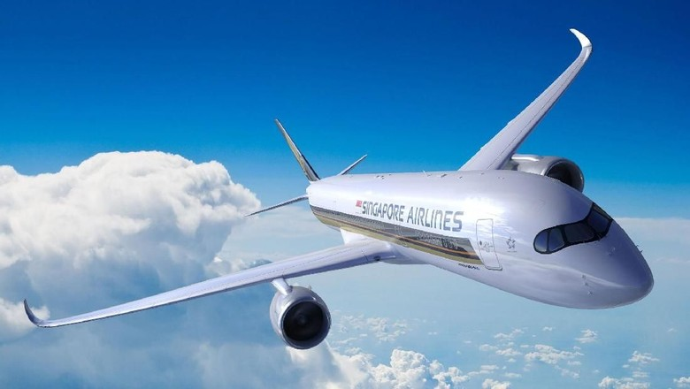 Singapore Airlines pesawat Airbus A350-900 ULR (Singapore Airlines)