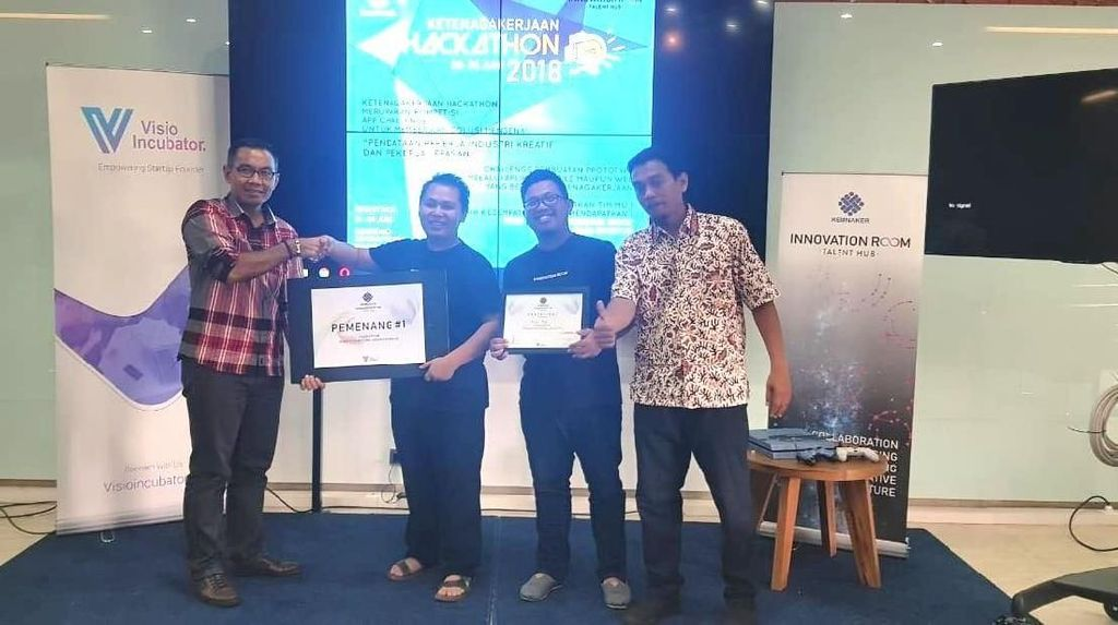Ini 3 Tim Startup Juara Kompetisi Hackathon Ketenagakerjaan