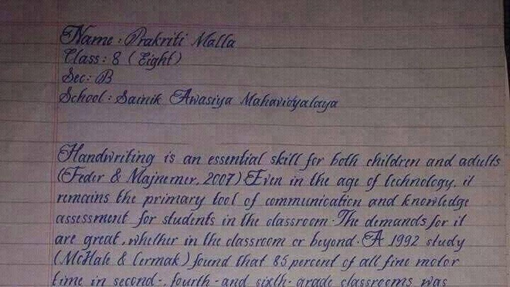 Ini Tulisan Tangan yang Disebut Terbaik di Dunia, Memanjakan Mata?