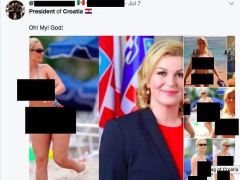 Perempuan seksi berbikini dalam foto tersebut rupanya bintang film dewasa asal Amerika Serikat.