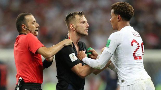 Timnas Inggris kalah 1-2 dari Kroasia di babak semifinal Piala Dunia 2018.