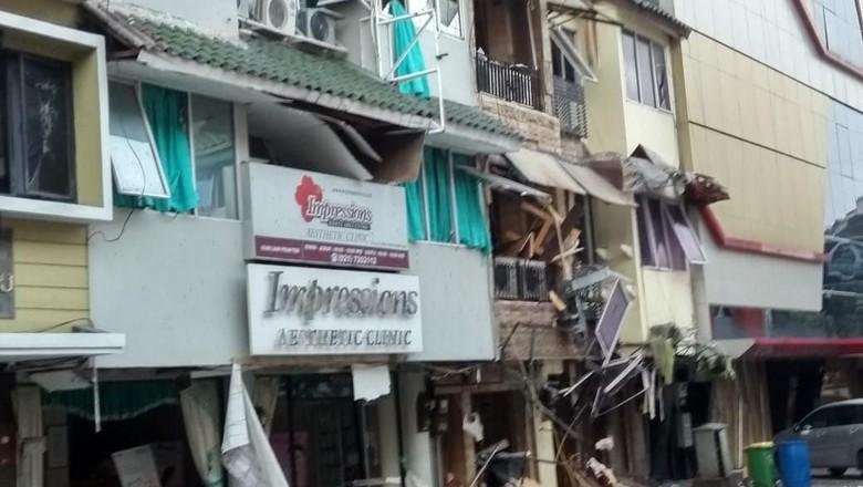 Hancur Berantakan, Ini Lokasi Ledakan Ruko di Kebayoran Baru