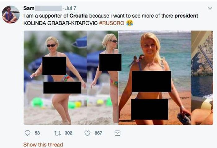 Konon, foto berbikini yang disebut-sebut sebagai Presiden Kroasia tersebut adalah foto lama Coco ketika berlibur di Miami pada 2009. Foto: twitter
