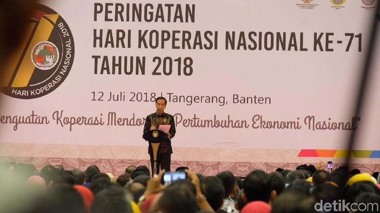 Jokowi Bicara Perkembangan Teknologi, Pesan Sate Lewat Aplikasi