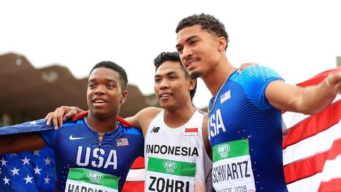 Cara berlari cepat seperti Zohri. Foto: Stephen Pond/Getty Images for IAAF