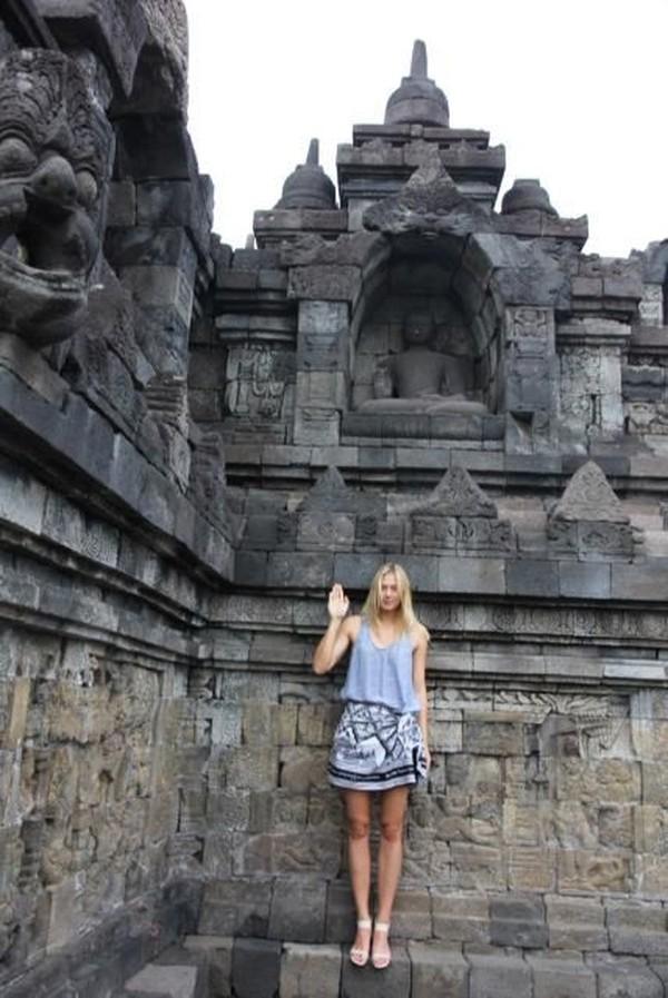 Nah dari sekian banyak negara yang pernah ia kunjungi, Sharapova pernah pula ke Indonesia (Maria Sharapova/Facebook)