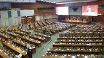 Bangku-bangku Kosong di DPR Saat Rapat Paripurna RAPBN