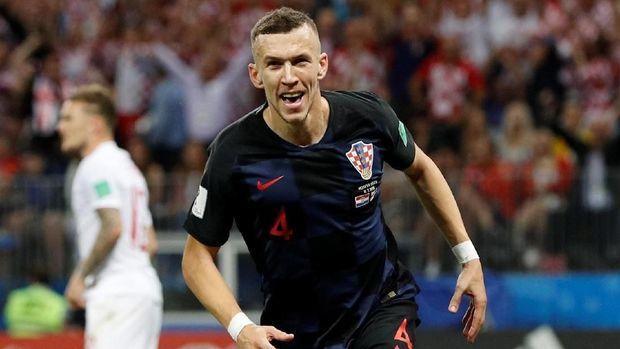 Ivan Perisic menjadi salah satu pemain Kroasia yang tampil konsisten di Piala Dunia 2018.