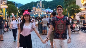 Foto: Liburan ke Hong Kong ala Verrell Bramasta & Natasha Wilona