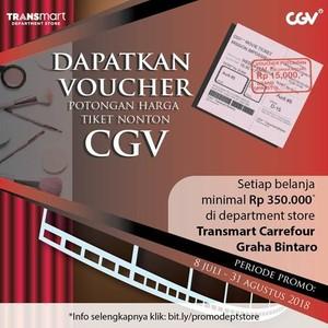 Ada Promo Nonton Bioskop di CGV Transmart Carrefour Graha Bintaro