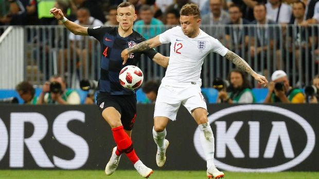 Wingback Inggris Kieran Trippier diragukan tampil melawan Belgia karena cedera saat menghadapi Kroasia.