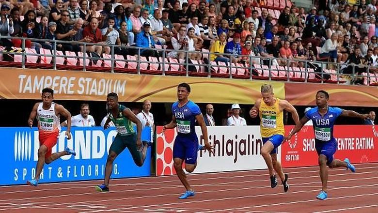 Lalu Muhammad Zohri Juara Dunia U-20 Lari 100 Meter, Pelatih: Alhamdulillah