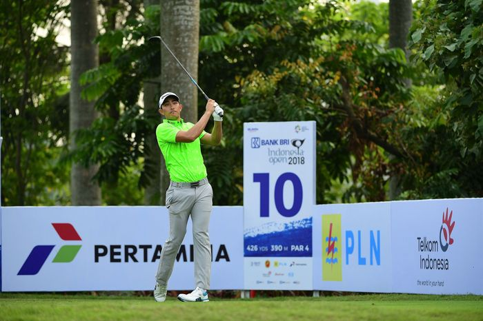 Di hari pertama ini, pegolf pro Indonesia A. Hardjito dan Jordan Irawan mencetak 72 pukulan atau even par. Pool/BRI.