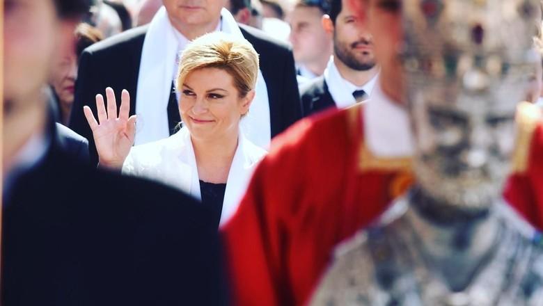 Potret Presiden Kroasia yang Kena Hoax Foto Berbikini
