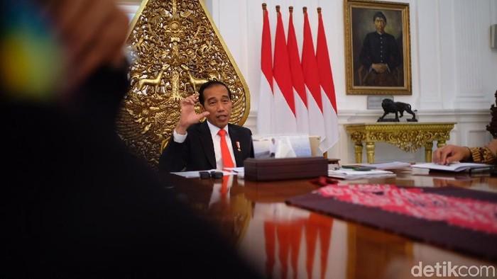 Presiden Joko Widodo (Jokowi) dalam sesi wawancara khusus dengan detikcom, Rabu (11/7/2018) (Foto: Andhika Prasetia/detikcom)
