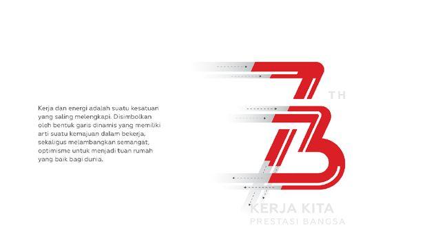 Ini Logo HUT Ke 73 RI Bertema Kerja dan Energi