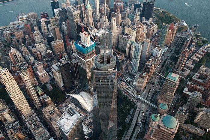 Kota New York, Amerika Serikat menjadi simbol kehidupan perekonomian dunia. Tak pernah berhenti dan selalu sibuk di sepanjang hari. Drew Angerer/Getty Images.