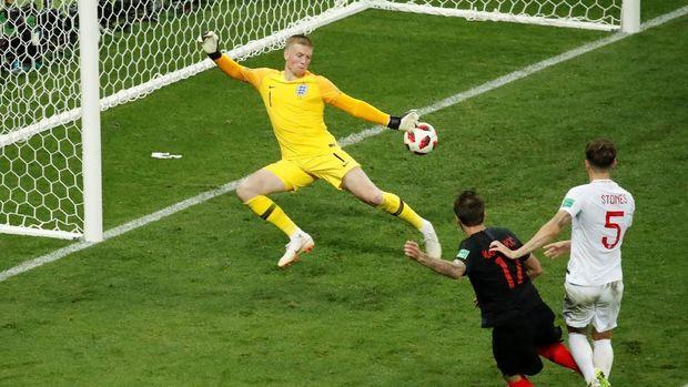 Mario Mandzukic mengubur mimpi Inggris di Piala Dunia 2018.