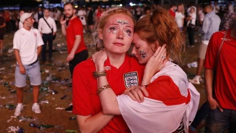 Tangisan di Trafalgar dan Hyde Park Usai Inggris Ditekuk Kroasia