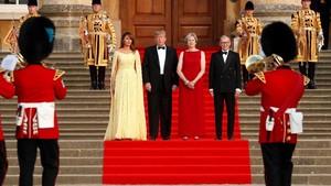 Warganya Protes, PM Inggris Malah Gelar Karpet Merah untuk Trump