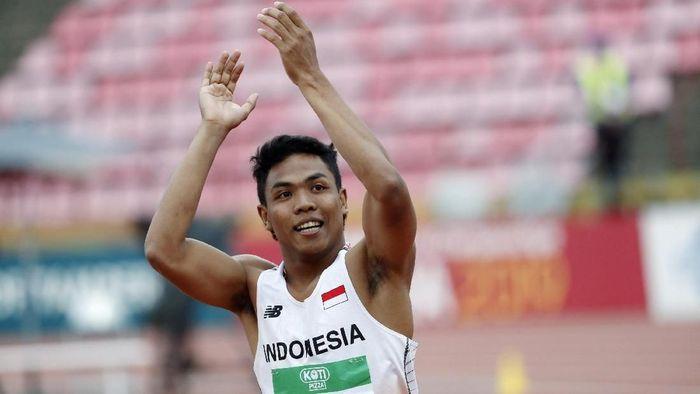 Lalu Muhammad Zohri merebut emas lari 100 meter di Kejuaraan Dunia Atletik U-20 (Foto: Lehtikuva/Kalle Parkkinen via REUTERS)
