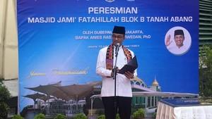 Resmikan Masjid di Blok B Tanah Abang, Ini Harapan Anies