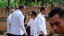 Jokowi Tinjau Padat Karya Tunai di Banyuasin Sumsel