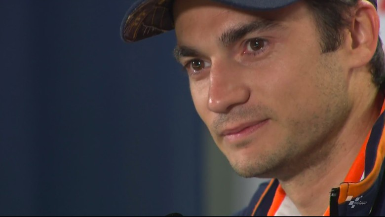 Pedrosa saat umumkan keputusannya untuk pensiun dari MotoGP. Foto: Screenshot Video Motogp.com