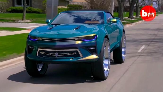 Chevrolet Camaro dengan Pelek Besar Keren atau Norak?
