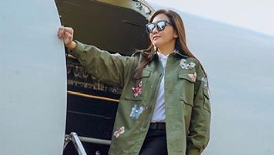 Mewahnya Maia Estianty saat Nyari Baso dengan Private Jet