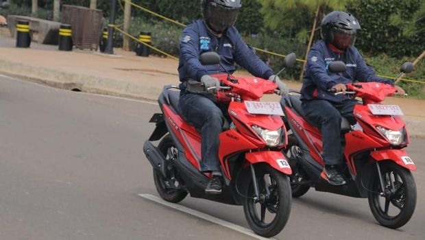 Suzuki Nex II diuji para jurnalis dari Jakarta menuju Serpong, Tangerang.