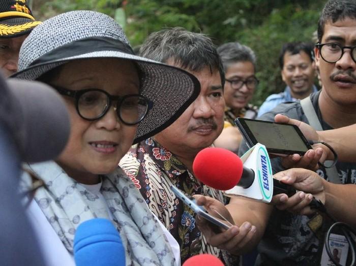 Menlu Retno ternyata rajin olahraga (Foto: Hakim Ghani/detikcom)