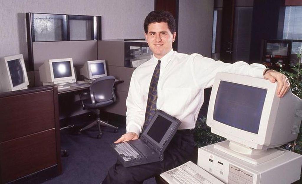 Michael Dell di kala muda. Ia merintis Dell sejak masa kuliah di University of Texas Austin, sampai-sampai dia tidak tamat. Foto: istimewa